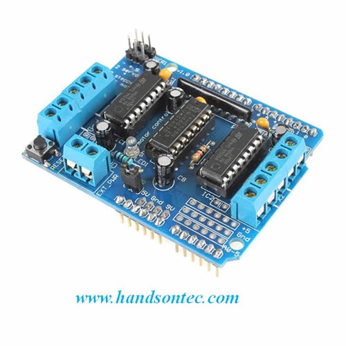 L293d motor driver shield for arduino handson tech for L293d motor driver module