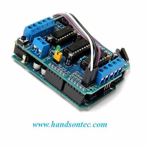 L293d Motor Driver Shield For Arduino Handson Tech