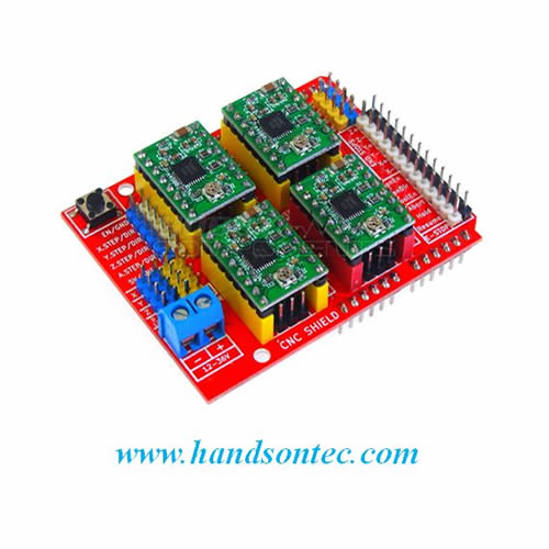 Cnc 3 Axis Stepper Motor Shield Bundle For Arduino