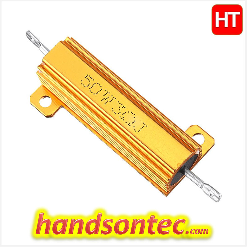 Aexit 50W 300ohm Variable Resistors Nonflammable Fixed Wire Wound Rheostats Power Resistor