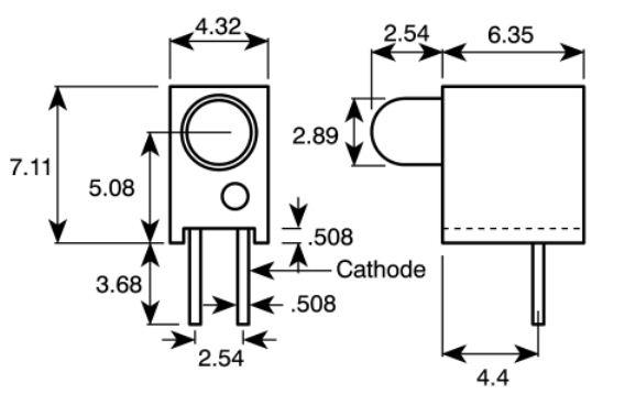 3mm led pcb indicators  red   u2013 handson tech